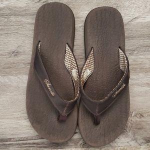 Sanuk Womens Shoes Thong Flip Flop Sandal Yoga Mat